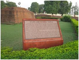 Stupa and Nirvana Temple. Southlit July 2014