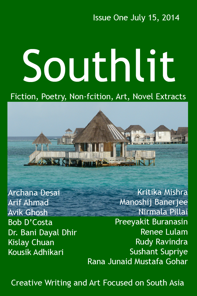 Southlit July 2014. Picture: The Maldives. Picture by Matt Adcock. Cover Design by Graham Lawrence. Copyright Southlit, Graham Lawrence and photographer